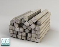 wood pile c4d