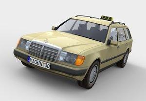 3d w124 taxi