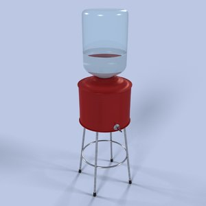 3d model watercooler water cooler