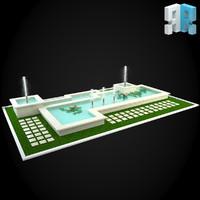 3d model fountain