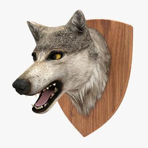 wolf head 3d 3ds