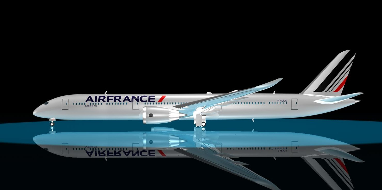 air france 787-10 dreamliner 3d max