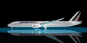 air france 787-10 dreamliner 3d max