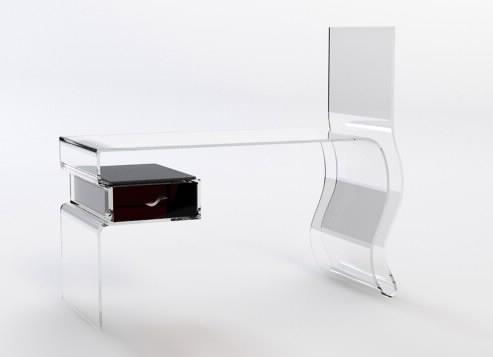 3d contemporary computer desk