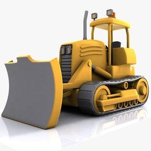 cartoon bulldozer dozer 3d max
