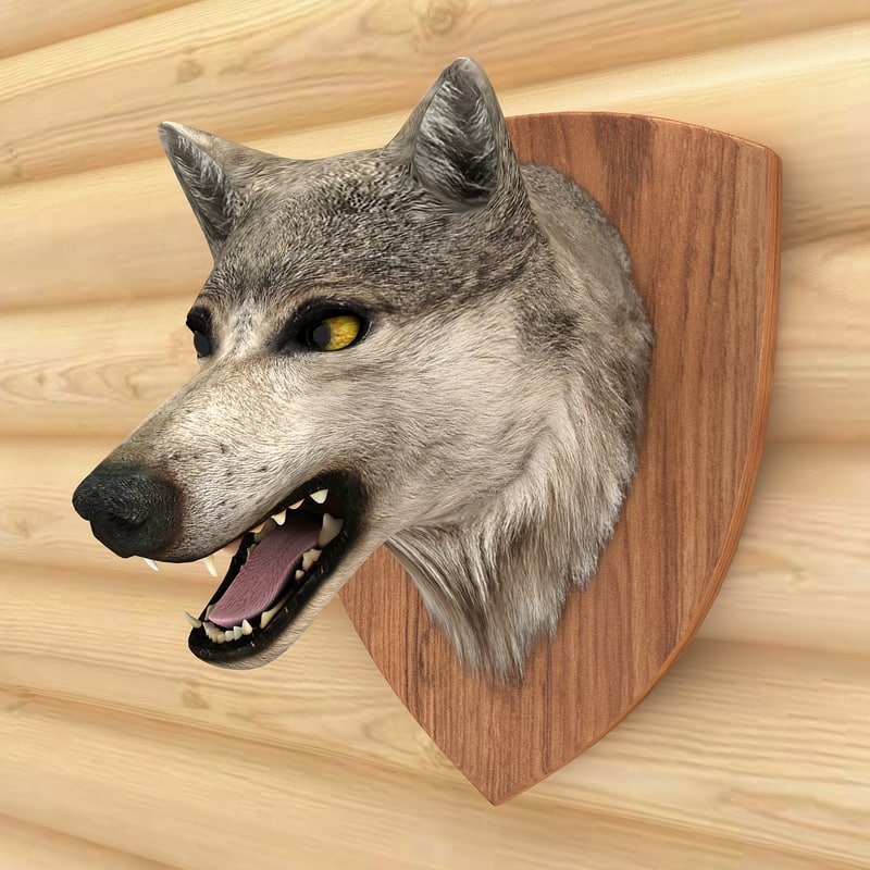 wolf head 3d 3ds