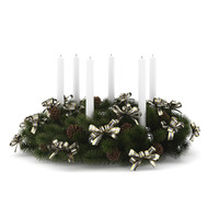 3d table decoration christmas model