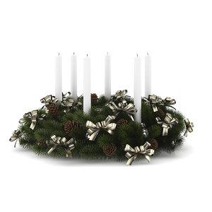 3d table decoration christmas model