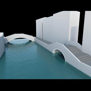 3d real bridges venice model