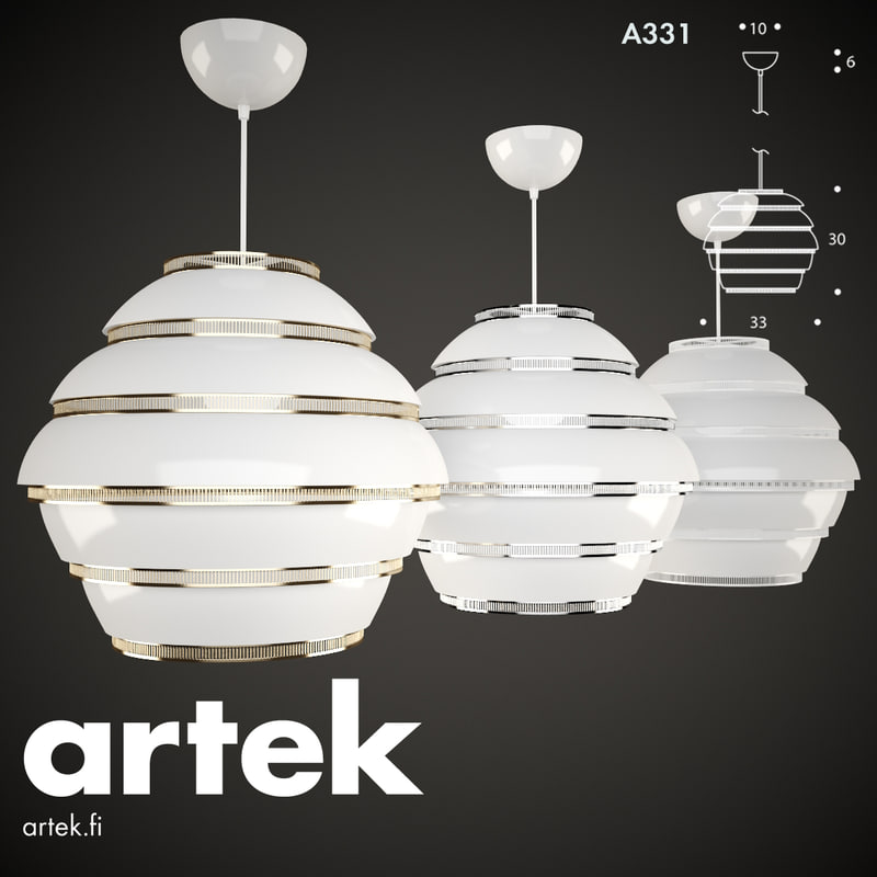 pendant a331 artek light lamp 3d max