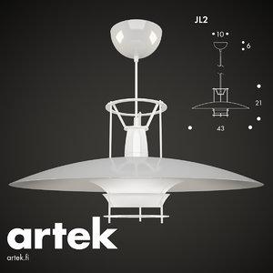 pendant lamp jl2 artek 3d model