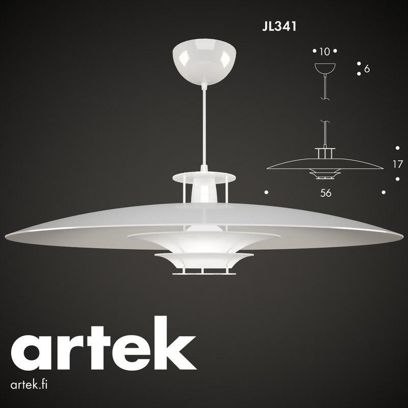 3d model pendant lamp jl341 artek