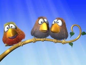 3dsmax bird rigged