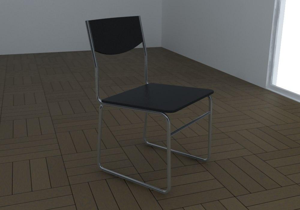 free chair clin 3d model