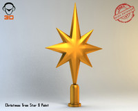 3d christmas tree star model
