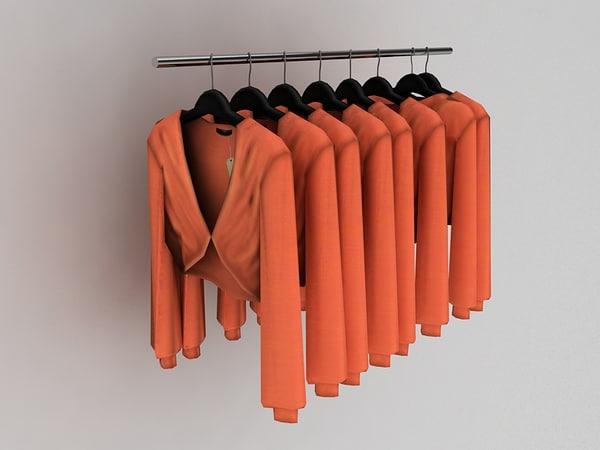 3d woman blouse