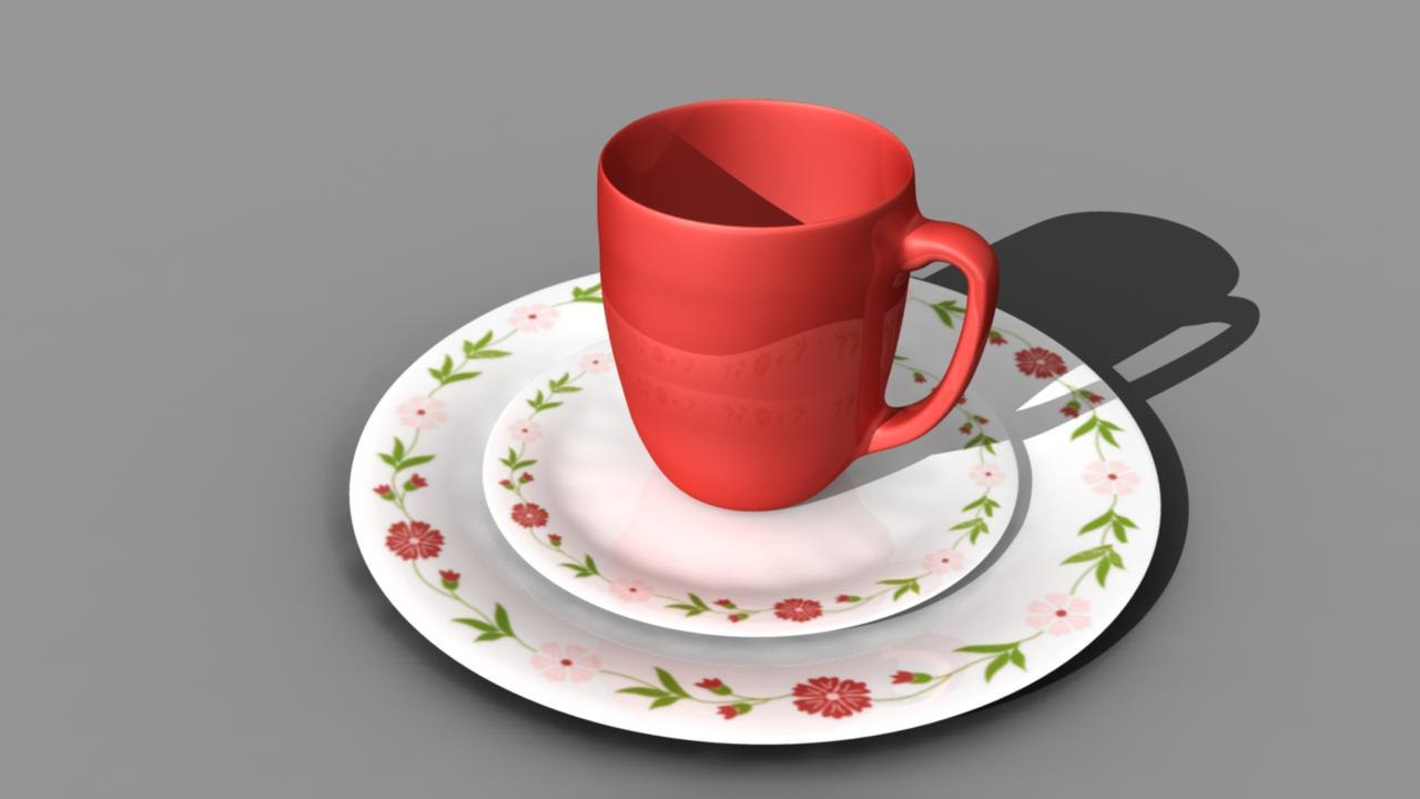 dish set 3d model