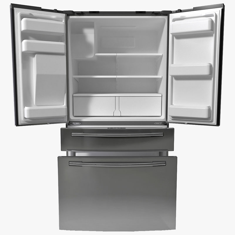 french door refrigerator samsung 3d 3ds