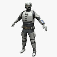 futuristic army soldier 3d model