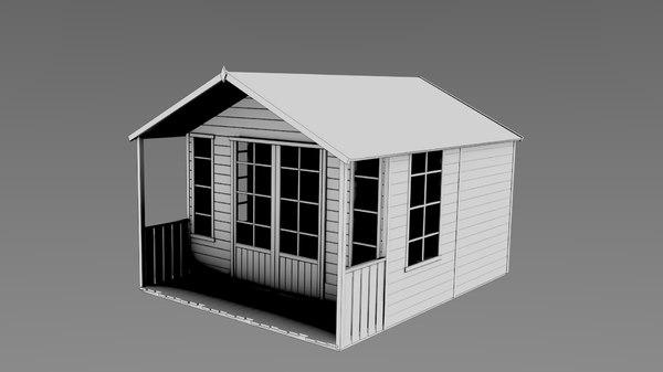 3d mesh garden summer house