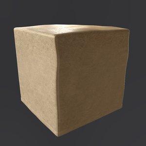 3d model jesse contemporary pouf