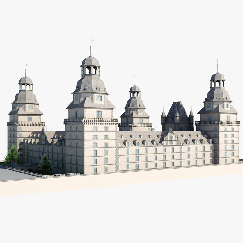 johannisburg castle germany 3d model