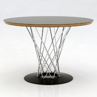 3d noguchi circular table model
