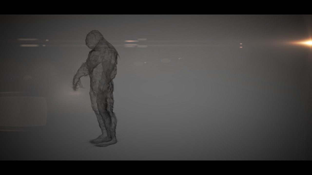 3d smoke man model