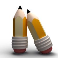 cartoon pencil 3d max