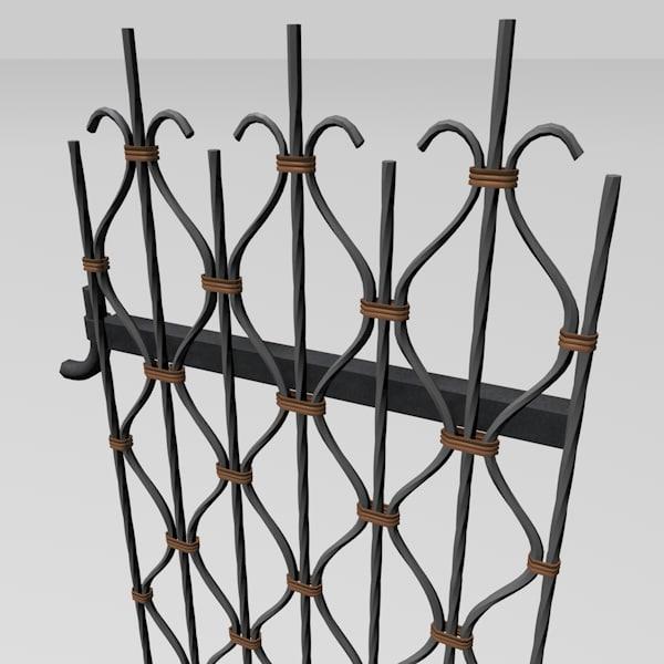 obj metal garden gate