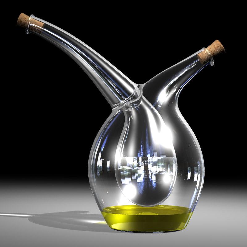 set mojoo vinegar cruet 3d 3dm