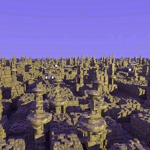 sci-fi city scene scifi 3ds