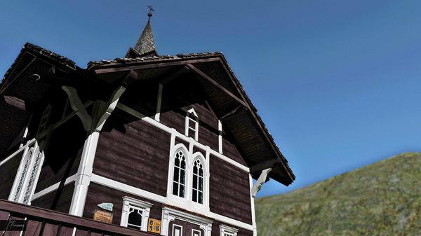 church mountains 3d 3ds