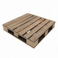 3d model wooden pallet - 4k