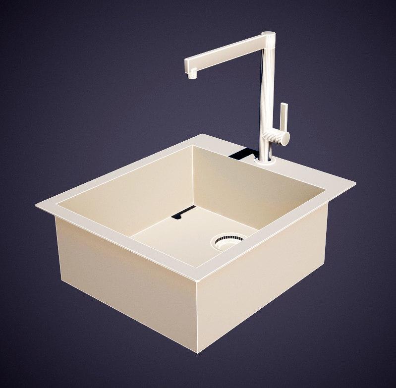 european sink faucet 3d model