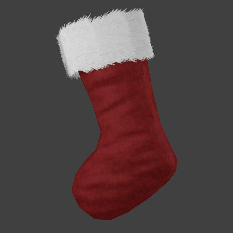 3d model christmas stocking