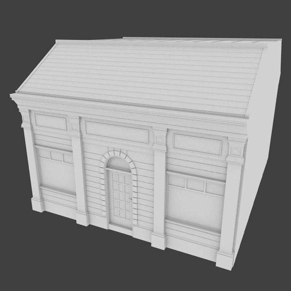 3d model store facade exterior