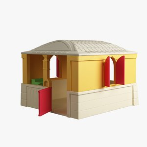 3d small house toy model