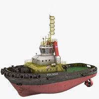 tug boat 2 3d model