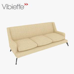 3d max vibieffe divano basso
