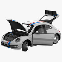3ds max volkswagen beetle 2012 race car