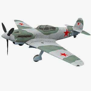 yakovlev yak-9 soviet world war 3d max