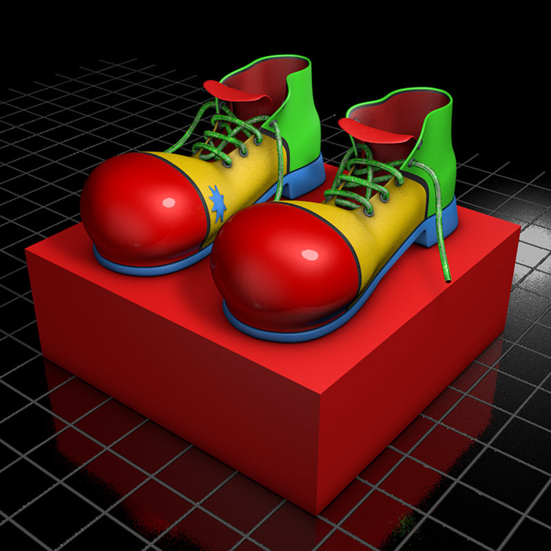 8994c8686ec 3d shoes clown model
