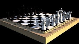 typical chess set 3d model
