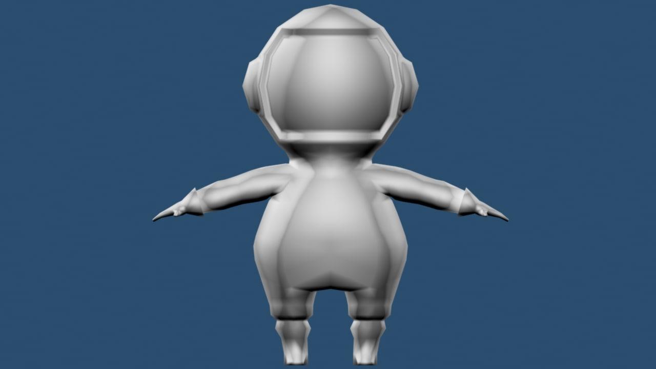fat astronaut 3d max