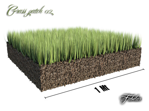 3d grass patch