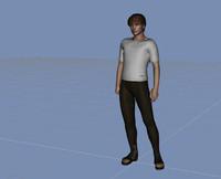 human male adult 3d 3ds