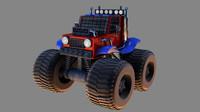 3d model cartoon monster truck