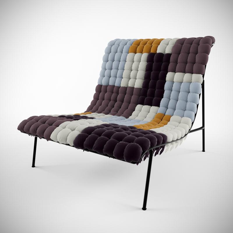 3d mosaiik lounge chair model
