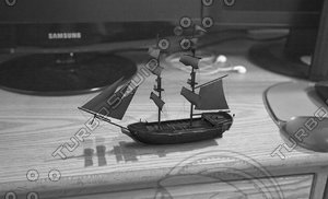 3d model pirate ship